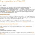 Office 365 Betaはキャンセル待ち